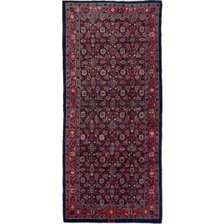 ecarpetgallery Mahal Blue Wool Rug (4'3 x 9'11)