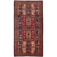 ecarpetgallery Ardabil Blue, Red Wool Rug (4'11 x 9'7)