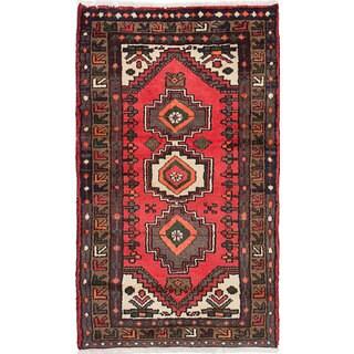 ecarpetgallery Hamadan Brown Wool Rug (2'3 x 3'10)