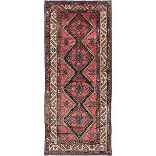 ecarpetgallery Koliai Brown Wool Rug (3'7 x 8'8)