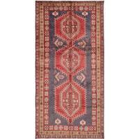 ecarpetgallery Meshkin Blue, Red Wool Rug (4'9 x 9'7)
