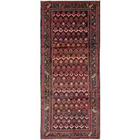ecarpetgallery Persian Vintage Black, Red Wool Rug (4'2 x 9'11)
