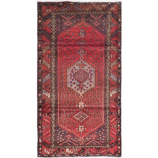 ecarpetgallery Mousel Red Wool Rug (3'6 x 6'8)