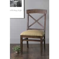 East At Main's Lyme Brown Mango Wood Square Dining Chair