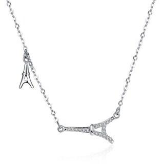 Hakbaho Jewelry Cubic Zircon De Paris Sterling Silver Necklace