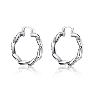Hakbaho Jewelry Sterling Silver Curved Ancient Rome Hoops