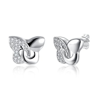 Hakbaho Jewelry Sterling Silver Modern Twist To The Classic Butterfly Earring