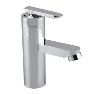 Brushed Chrome Bathroom Faucet Single Handle