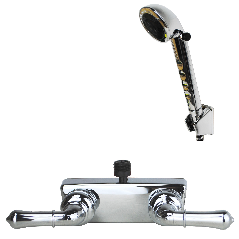 "RV//Motorhome Hand-Held Shower Set with 60/"" Stainless Steel Hose Brushed Nickel"