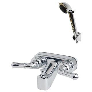 Builders Shoppe 3210/4120 RV/Motorhome Replacement Tub Shower Faucet Valve Diverter with Matching Hand Held Shower Set