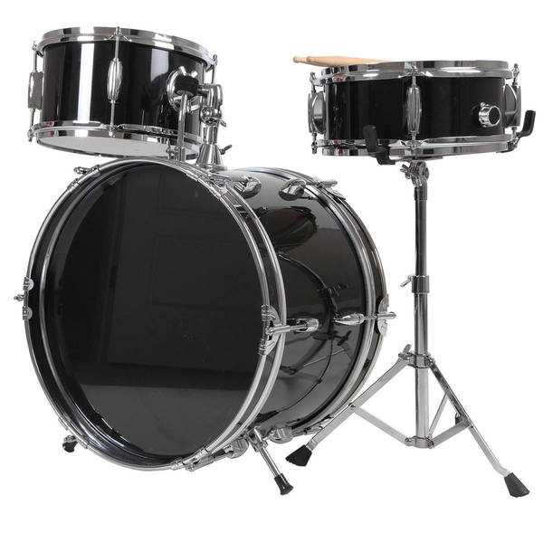 X8 Drums 3-Pc Junior Drum Kit, Black
