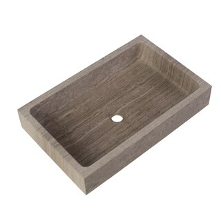 Maykke Lehi Stone Vessel Sink in Grey Marble