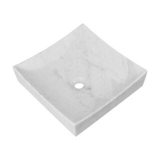 Benton Stone Vessel Sink, White Marble