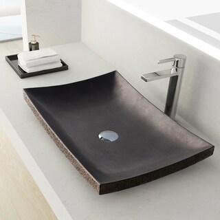 Maykke Payson Stone Vessel Sink - Lava Granite