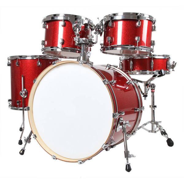 Shop X8 Drums Journey Series Mixed Maple 5 Piece Drum Set Red