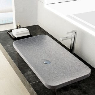Maykke Ivins Grey Granite Stone Vessel Sink