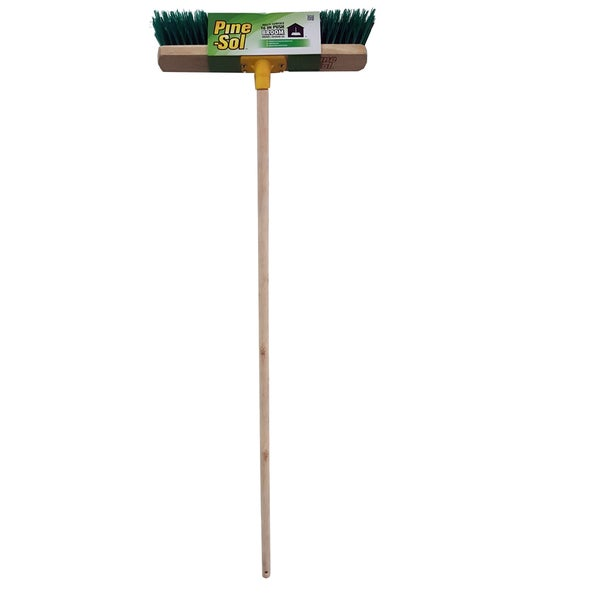 Shop Pine Sol Push Broom 16 Inch Wood Handle Free