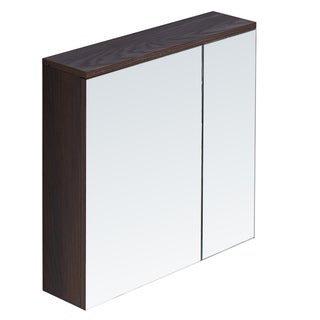 InFurniture Wood/Glass 23.6-inch Medicine Cabinet