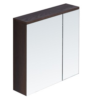 InFurniture Wood/Glass 23.6-inch Medicine Cabinet