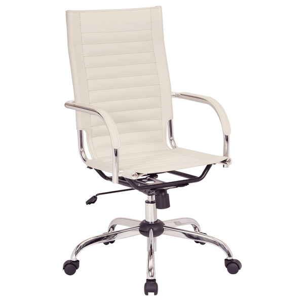 Off white office chair Ikea Work Smart Trinidad Offwhite Vinyl High Back Office Chair With Fixed Padded Arms And Overstock Shop Work Smart Trinidad Offwhite Vinyl High Back Office Chair With