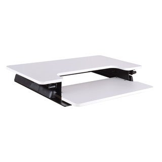 Pro-Line II White Desk Riser with 10-Position Height Adjustment, Spring-Assist Lift and Dual Handle