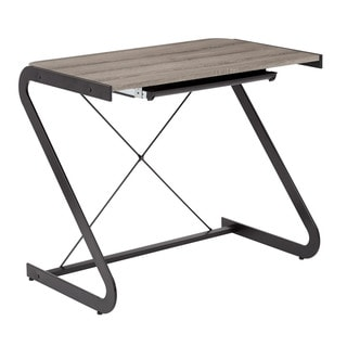 OSP Designs Clark Dark Driftwood Writing Desk
