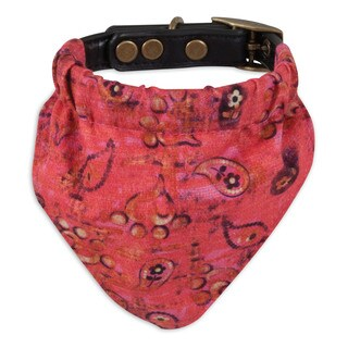 MuttNation Fueled by Miranda Lambert Pink Bandana Custom Fit Dog Collar