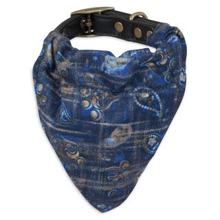 MuttNation Fueled by Miranda Lambert Blue Bandana Custom Fit Dog Collar