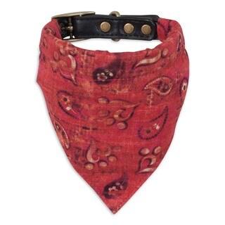 MuttNation Fueled by Miranda Lambert Red Bandana Custom Fit Dog Collar (3 options available)