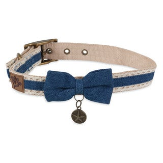MuttNation Fueled by Miranda Lambert Denim Lace & Bow Custom Fit Dog Collar