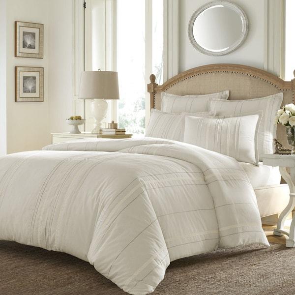 Shop Stone Cottage Agatha Ivory Emroidered Comforter Set