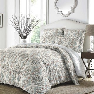 Stone Cottage Darville Blue Cotton Sateen Comforter Set