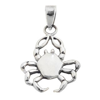 Crab Pendant in .925 Sterling Silver