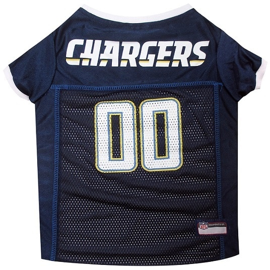 First San Diego Chargers Dog Jersey (Medium), Blue, Size M