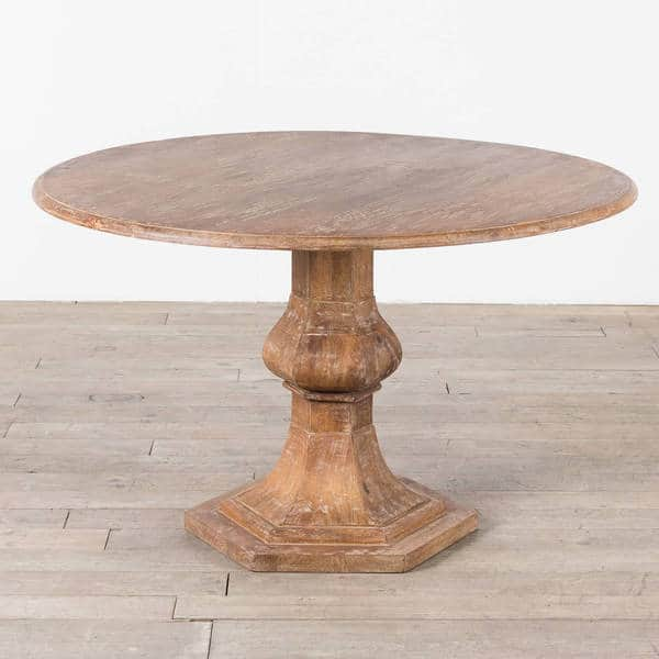 Cg Sparks Handmade Mango Wood 48 Dia Round Dining Table India Overstock 15921572