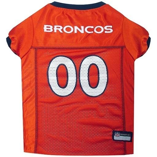 First Denver Broncos Dog Jersey (XS), Orange