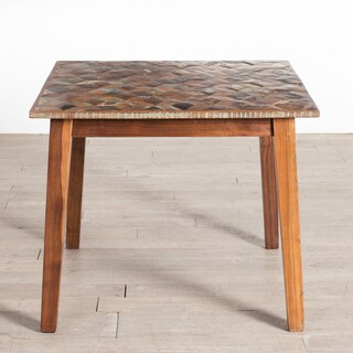 CG Sparks Handmade Parquet 3' Square Kitchen Table (India)