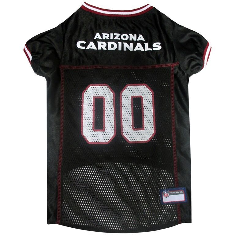 First Arizona Cardinals Dog Jersey (Medium), Black, Size M