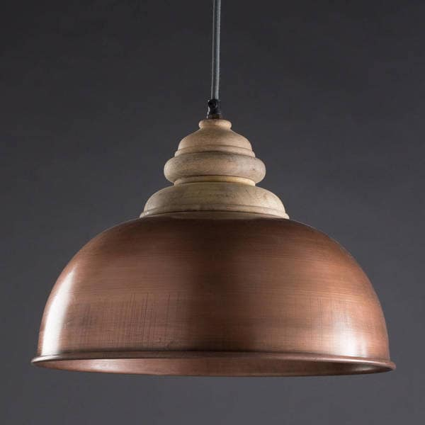 Handmade Pendant Light - Copper (India)