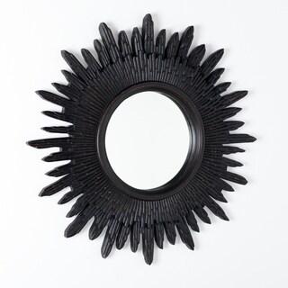 Handmade Sunburst Mirror - Blackwash (India)