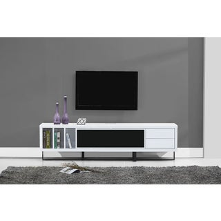 B-Modern Innovator White High-gloss/Black Modern IR TV Stand