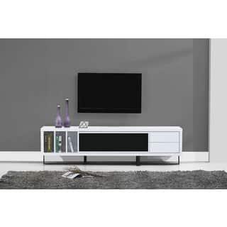 B-Modern Innovator White High-gloss/Black Modern IR TV Stand|https://ak1.ostkcdn.com/images/products/15923201/P22325468.jpg?impolicy=medium