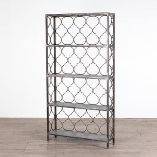 Handmade Quatrafoil Steel Bookcase (India)