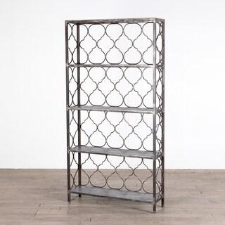 Handmade Quatrafoil Steel Bookcase (India)