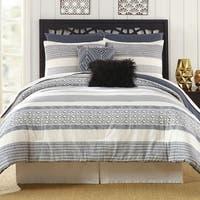 Presidio Square Deco Striped 7-piece Comforter Set