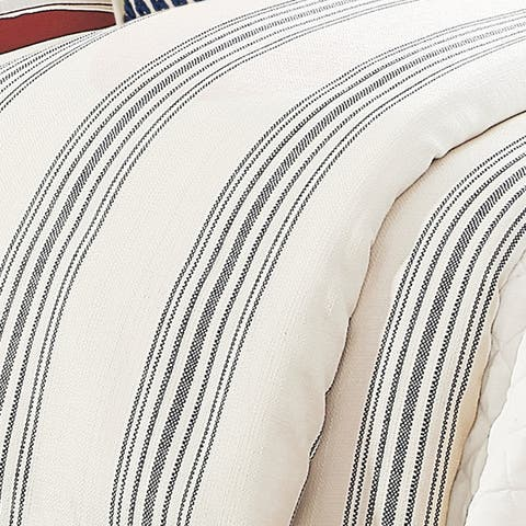 HiEnd Accents 1-Piece Prescott Stripe Duvet Cover (Shams Not Included)