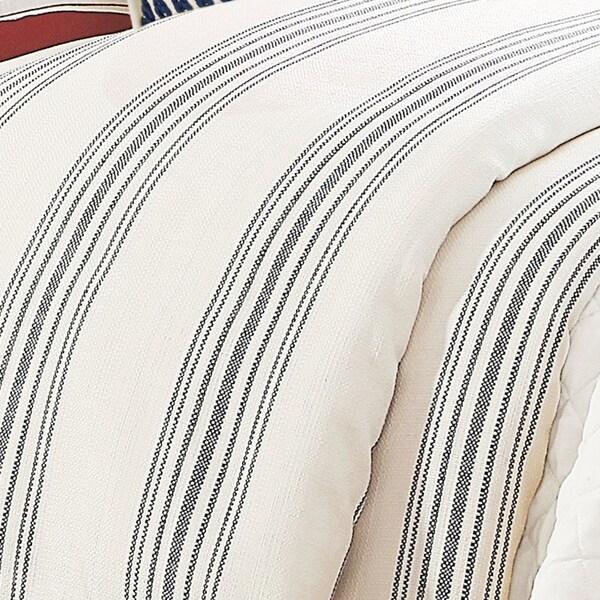 HiEnd Accents 1-Piece Prescott Stripe Duvet Cover (Shams Not Included)
