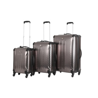 Triforce Apex Geometric 3-Piece Hardside Spinner Upright Luggage Set
