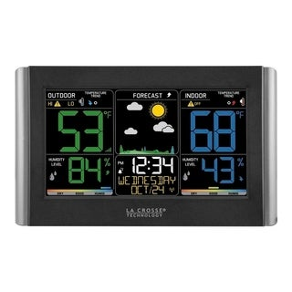 La Crosse Technology C85845-1 Wireless Forecast Station With Colored LCD Display