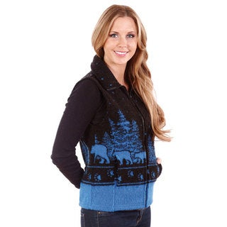 Mazmania Looped Wool Black Bear Vest